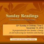 33rd Sunday C