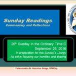26th Sunday C